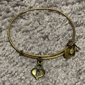Alex and Ani heart keyhole bracelet